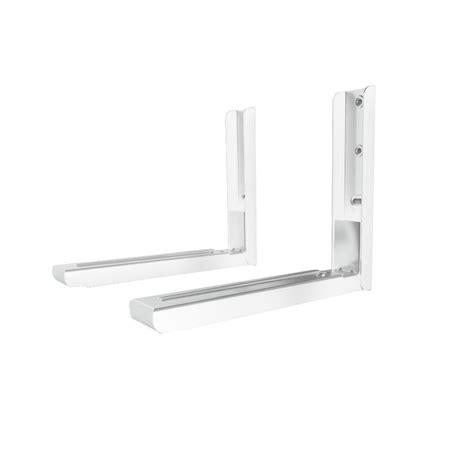 avf universal wall mounted microwave bracket in white