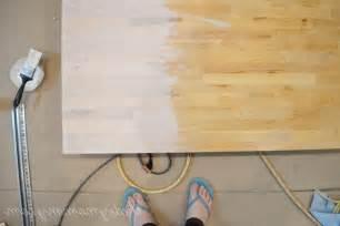 Whitewash Butcher Block Countertop by Plywood Floors White Wash Diy Photos