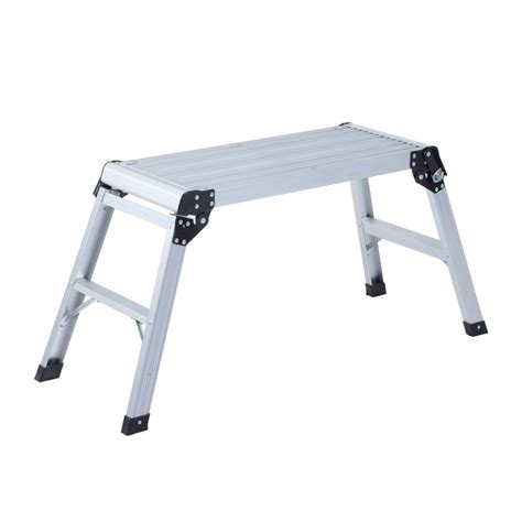 fold up step ladder homcom folding metal 2 step ladder step up work platform