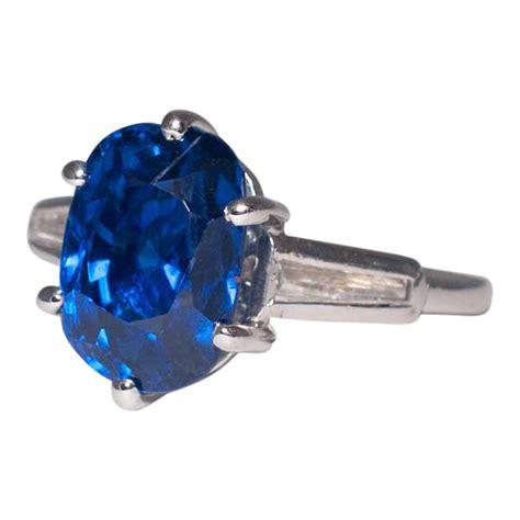 sapphire diamond  platinum ring plaza jewellery