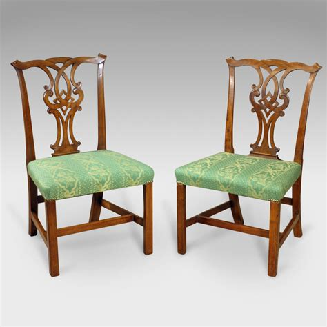 Vintage Dining Chairs Pair Of Antique Chairs Pair Of Dining Chairs Georgian Dining Chairs X2 Pair Of Chippendale