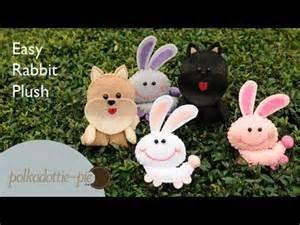 easy cute rabbit plush polkadottiepie felt craft