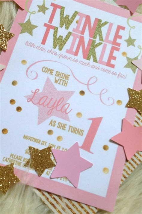 Toddler Playroom Ideas by Layla S Pink Amp Gold Twinkle Twinkle Little Star 1st