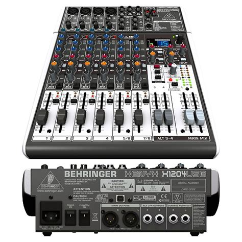 Mixer Behringer Xenyx X1204usb behringer x1204usb 12 channel usb audio mixer w effects