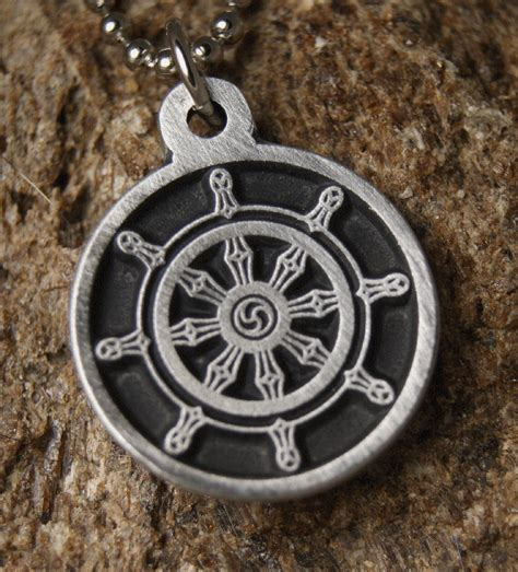 dharmachakra pendant wheel of dharma wheel necklace ebay