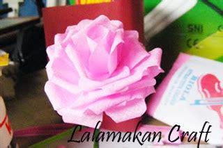 buat bunga mawar  kertas jagung bli blogen