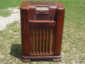 vintage philco radio record player wood console