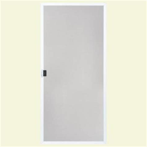 Patio Screen Doors Replacement Masonite 36 In White Replacement Screen For Patio Doors 44578 The Home Depot