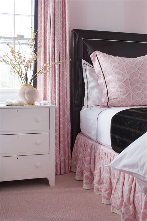 pink leather headboard pink bedding black leather headboard interiors by color