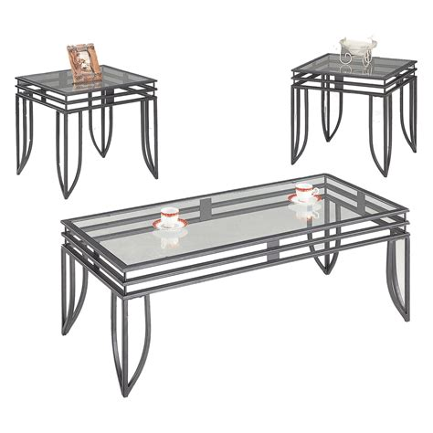 cafe 3 piece occasional set coaster occasional sets 7140 contemporary 3 piece
