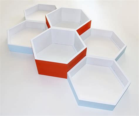 6 large honeycomb shelves hexagon shelves personalized