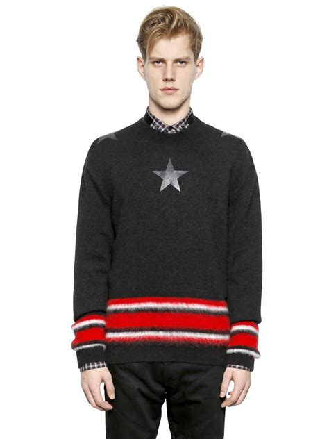 Givenchy Sweater givenchy wool mohair sweater with in black for lyst