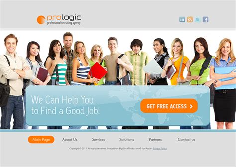 Pro Logic Recruiting Agency Html5 Template On Behance Recruitment Agency Website Template Free