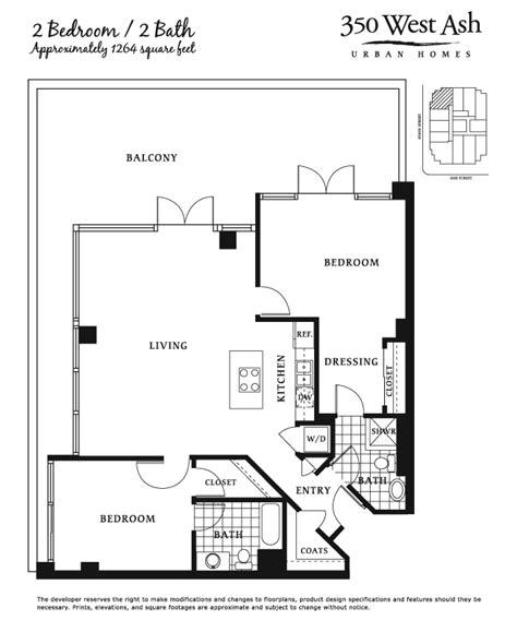 2 bed 2 bath floor plans 350 west ash floor plan 2 bed 2 bath