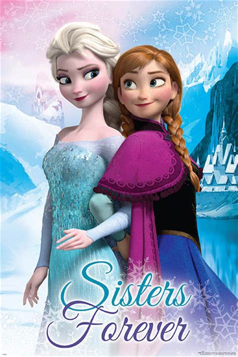 frozen wallpaper elsa and anna sisters forever disney frozen sisters forever poster 61x91cm new elsa