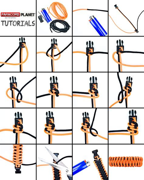 printable instructions on how to make a paracord bracelet slithering snake