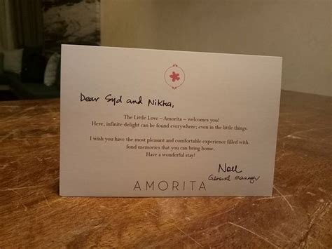 Welcome Card Template Hotel by Welcome Card Picture Of Amorita Resort Panglao