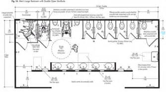 Handicap Floor Plans Ada Typical Mens Restroom With Double Open Vestibule