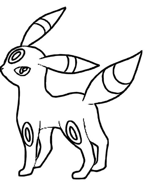 blank coloring pages pokemon pokemon umbreon coloring pages coloring home