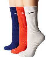 nike dri fit cushion crew socks large6 pair nike dri fit crew sock 3 pair pack clothing at 6pm