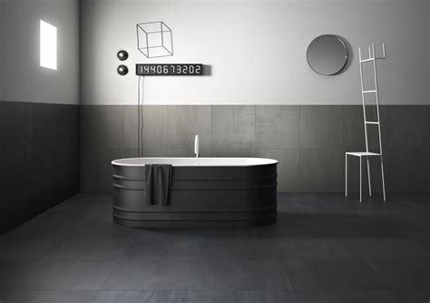 concrete effect porcelain tiles in seven shades of grey