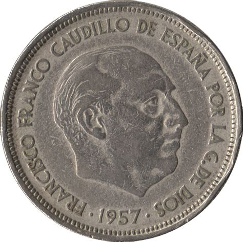 franco caudillo de espana 8466337482 50 pesetas franco espagne numista