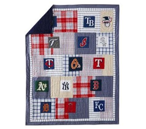 Pottery Barn Baseball Quilt pottery barn mlb american league baseball quilt shams sheet set new ebay
