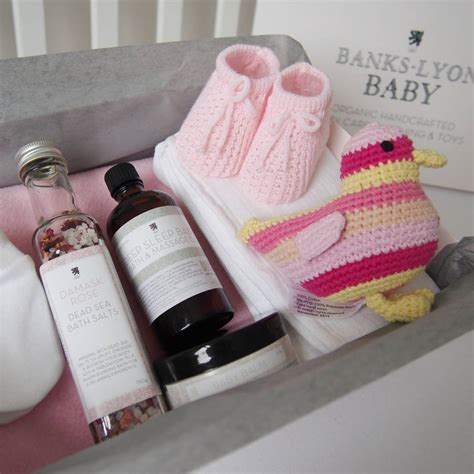 Handmade Newborn Gifts - create your own handmade baby gift box by banks lyon