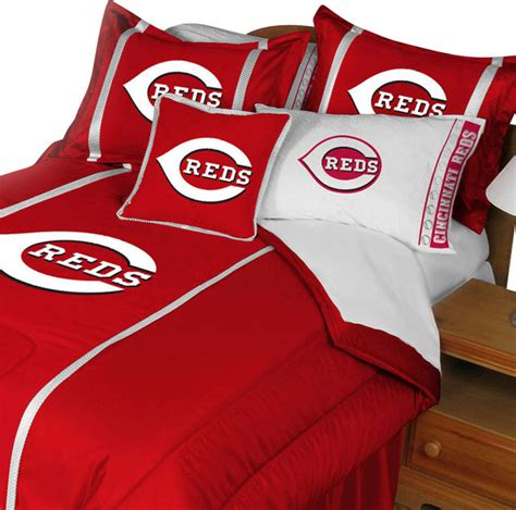 mlb cincinnati reds bedding set baseball comforter sheets