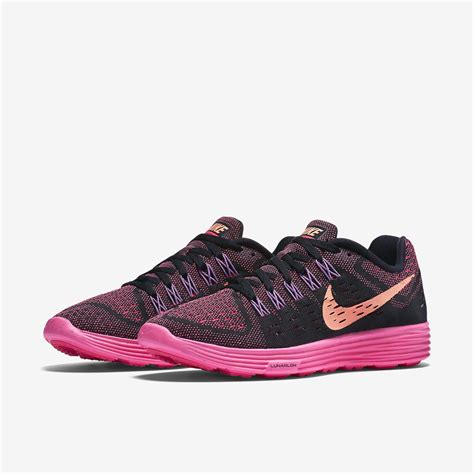 black and pink womens nike running shoes nike womens lunartempo running shoes black pink pow