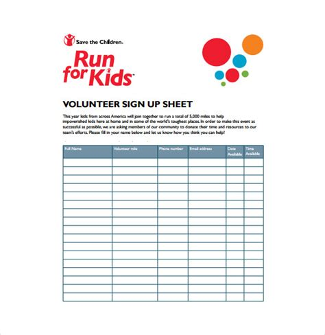 parent volunteer sign up template the sign up sheet opens up