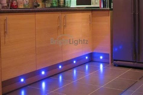 Blue Led Kitchen Lights Set Of 10 Led Deck Lights Decking Plinth Kitchen Lighting Set Blue 60mm Brightlightz
