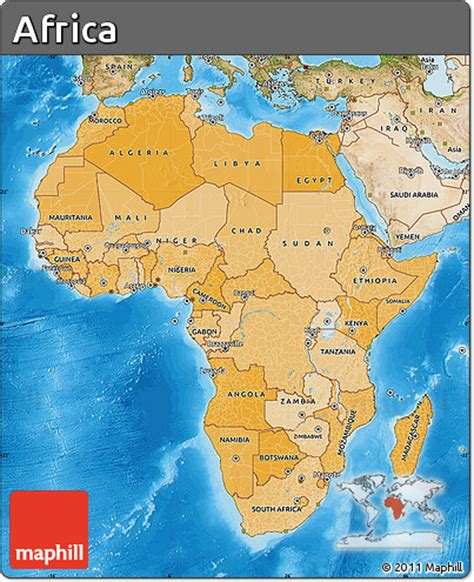 africa map sea free political shades map of africa satellite outside