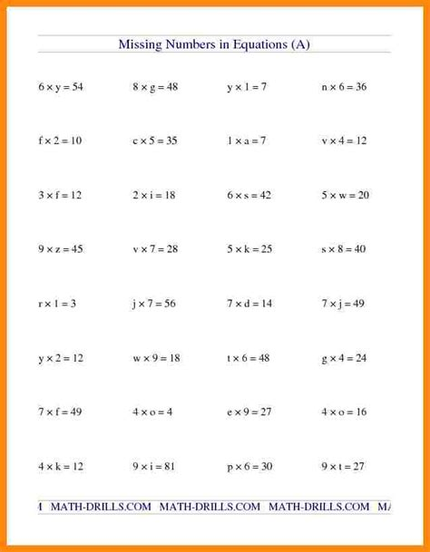 Worksheets For 9th Grade by 4 9th Grade Algebra Worksheets Math Cover