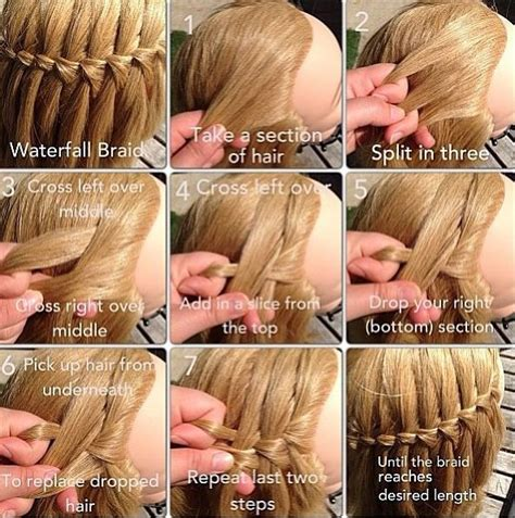 howtodo a twist in thefringe step by step waterfall braid steps hair makeup clothes pinterest