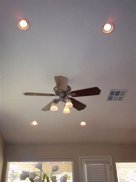 Recessed Lighting And Ceiling Fan Great Ceiling Fans Recessed Lights Electrical Trouble Shooting Gfci Regarding Fan Light Decor