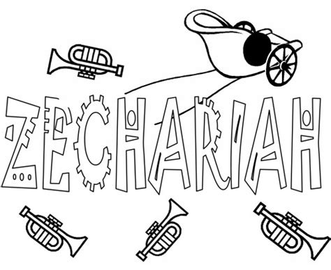 coloring page for zechariah books of the new testament coloring pages