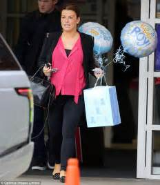 what to wear home from hospital after c section coleen rooney leaves hospital after giving birth to son