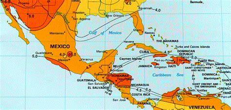 america mexico map solar insolation map mexico central america carribean