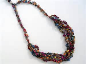 trellis yarn jewelry how to make pretty yarn crochet necklaces the beading