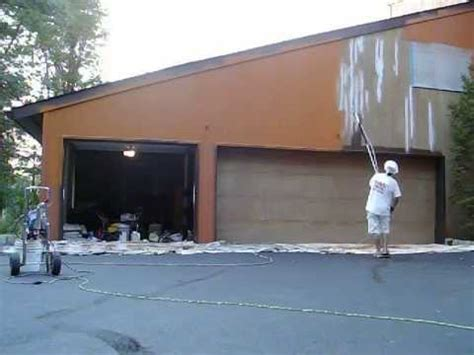 how to spray paint a house exterior painting exterior of a house using an airless sprayer