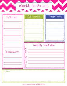 Weekly to do list planner printable