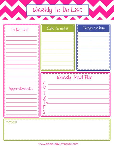 weekly to do list template to do list planner to do list template