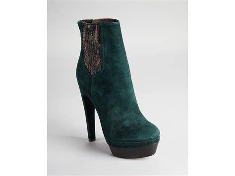 zoe boots zoe platform boots in green green lyst