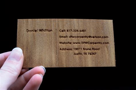 Carpentry Business Cards dfw carpentry business cards design discovery