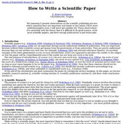 tips for writing scientific papers method of writing term paper