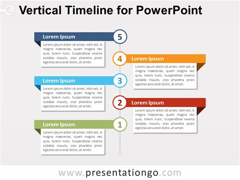Vertical Timeline Diagram For Powerpoint Presentationgo Com Vertical Timeline Template Powerpoint