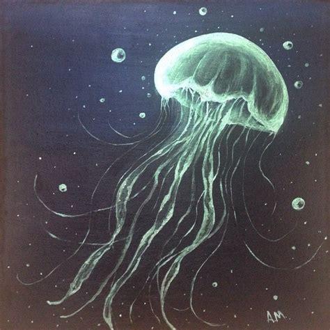 Jellyfish Painting Acrylic Monsanto
