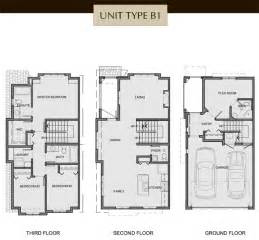 3 storey house floor plans