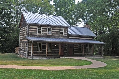 house photo file barnet hoover log house jpg wikimedia commons
